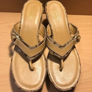 Like New Coach Wedge Sandals